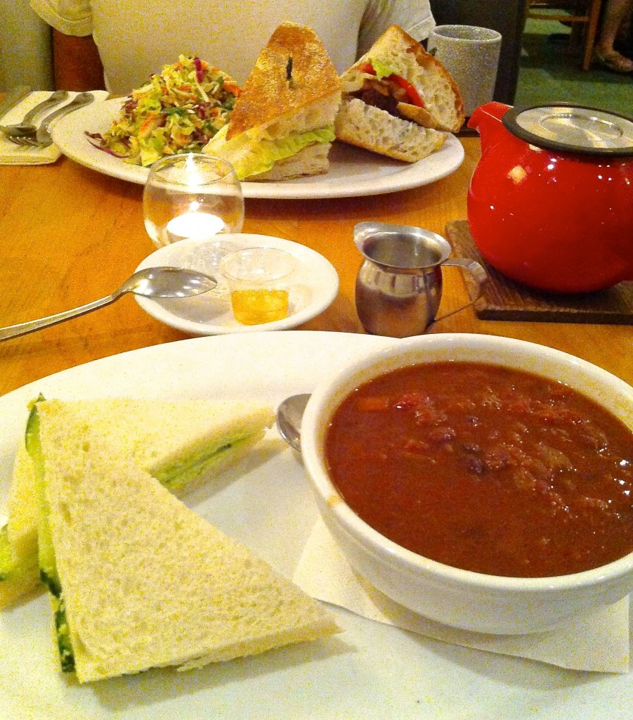 Sandwiches, Salad, Soup and Tea from The Steeping Room