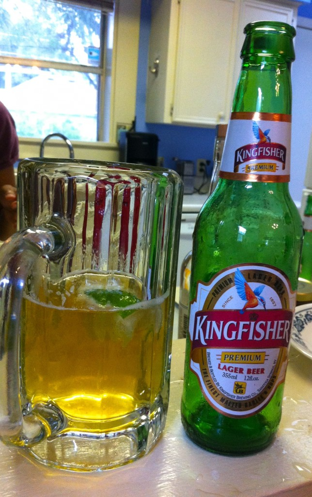 Kingfisher Beer: Our only contribution of the night