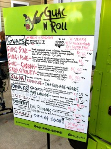 Guac N Roll Menu