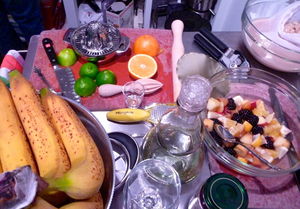 The makings of sangria, mojitos and horchata.