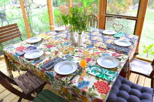 """""""Spring in the Country"""" table is all set."""