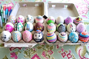 Our guests got creative while decorating EggNots ceramic eggs.