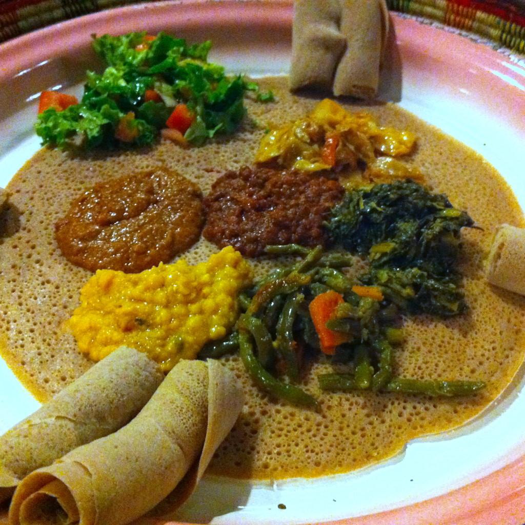 Ethiopian Food Platter from Habesha