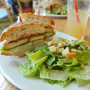 Vegan TBLT and Caesar Salad from The Steeping Room