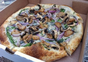 Veganized Athena Pizza from Spartan Pizza