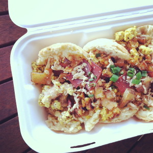 The Johnny Hash with Tofu Scramble.