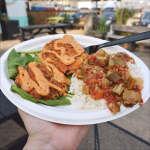The Vegan Crab Cakes Special from Baton Creole