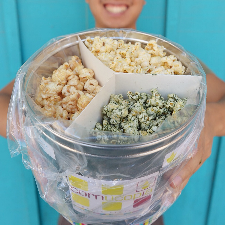 Vegan Popcorn Trio in Mini Tin from Cornucopia