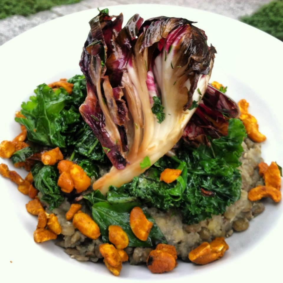 Lentils, Radicchio, & Candied Cashews by Craig Vanis of Bistro Vonish