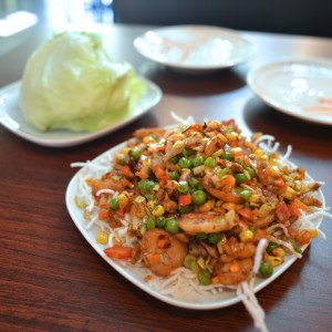 Lettuce wraps at Sauce N Spice