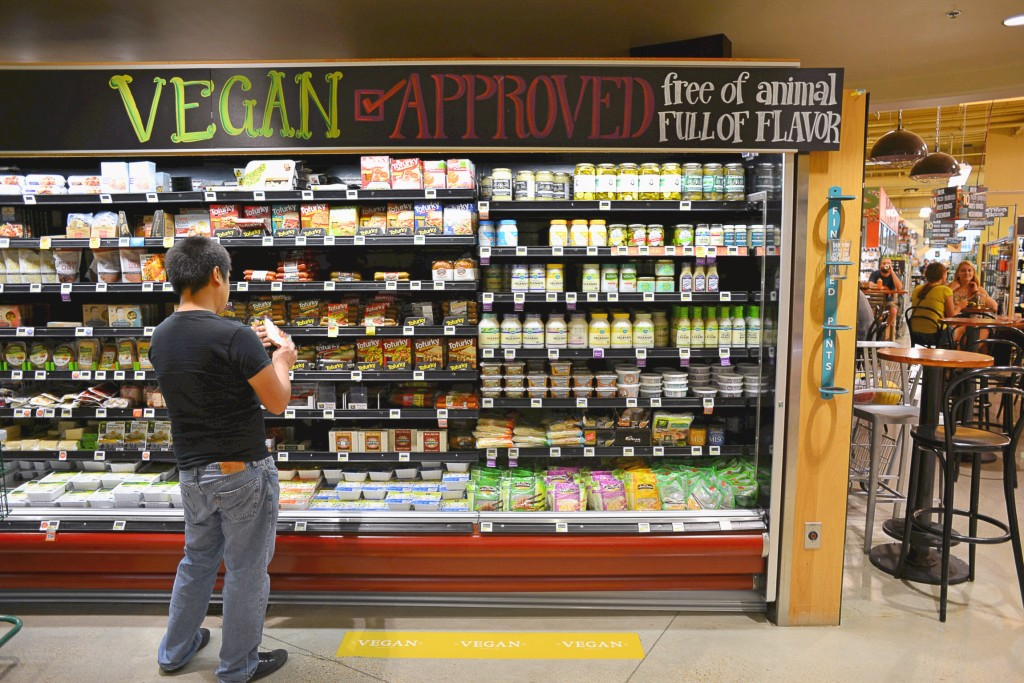 Vegan Section in Whole Foods