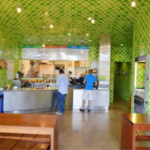 Interior of the Maoz location in Austin