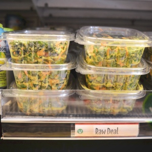 Raw Deal salad in the grab-and-go section at Wheatsville