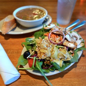 Soup and salad from Mother's Cafe