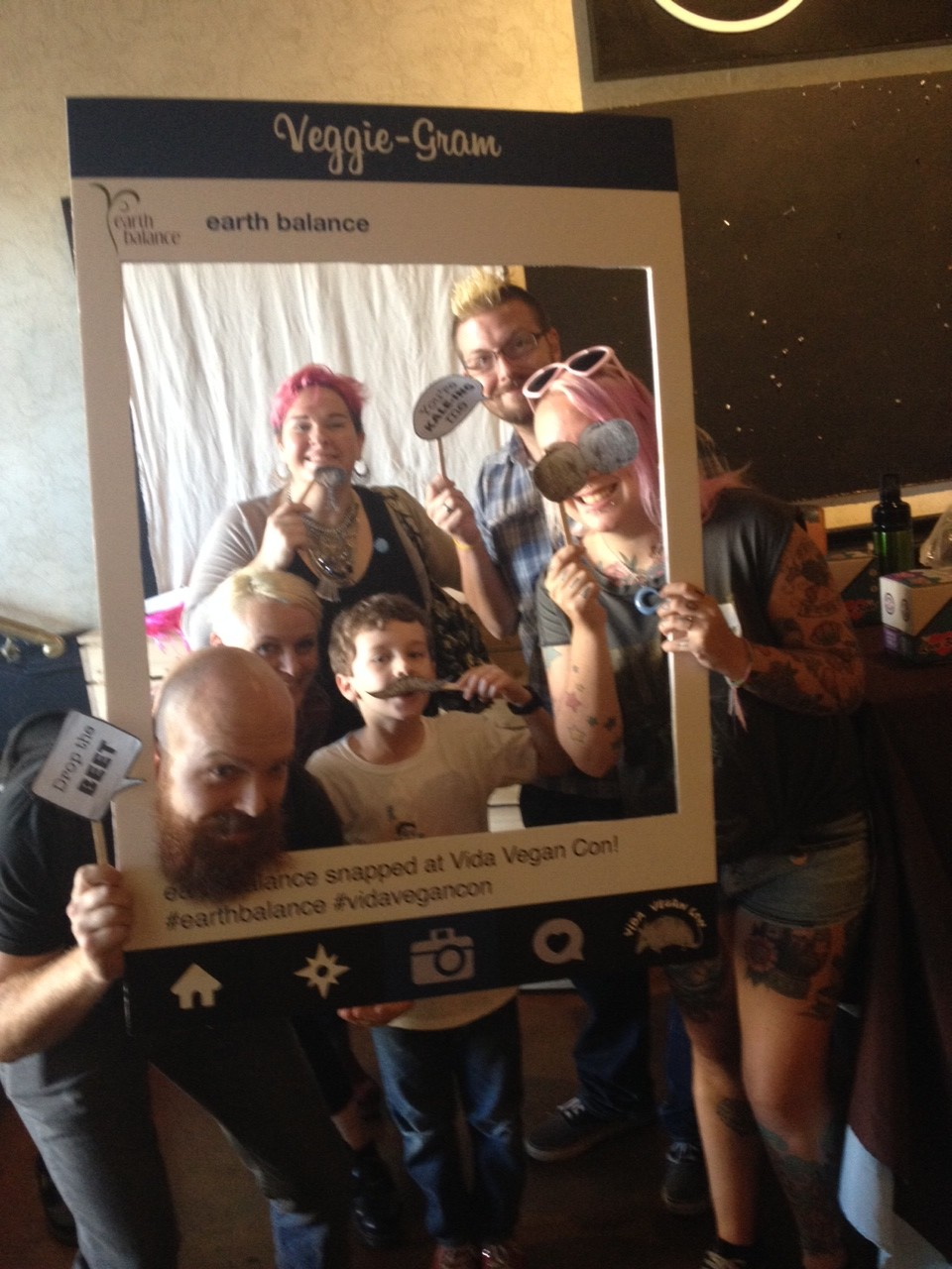 720f88ed7 Photo booth fun! Oh noes! I forgot to upload this one yesterday! What fun!  So many great vegans in one pic -- even celeb Milo! (Submitted by Amey)