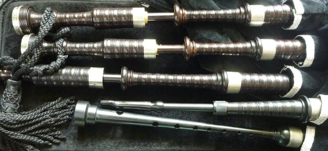 A set of Great Highland Bagpipes