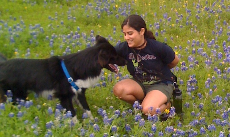 Adrienne and Cooper enjoy the Texas Bluebonnets