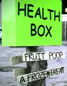Health Box trailer in South Austin offers 'fruit poop' desserts.