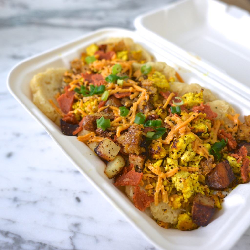The Johnny Hash with tofu scramble from Biscuits and Groovy
