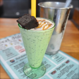 Salted Caramel Shake with a brownie from Sweet Ritual.
