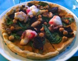 Indian curry pizza at Counter Culture
