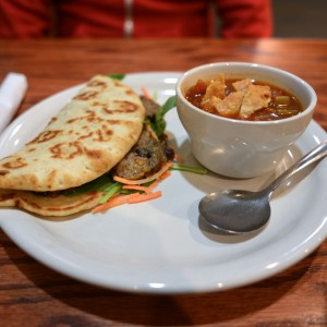 Curry Tempeh Wrap from Austin Java Tarrytown