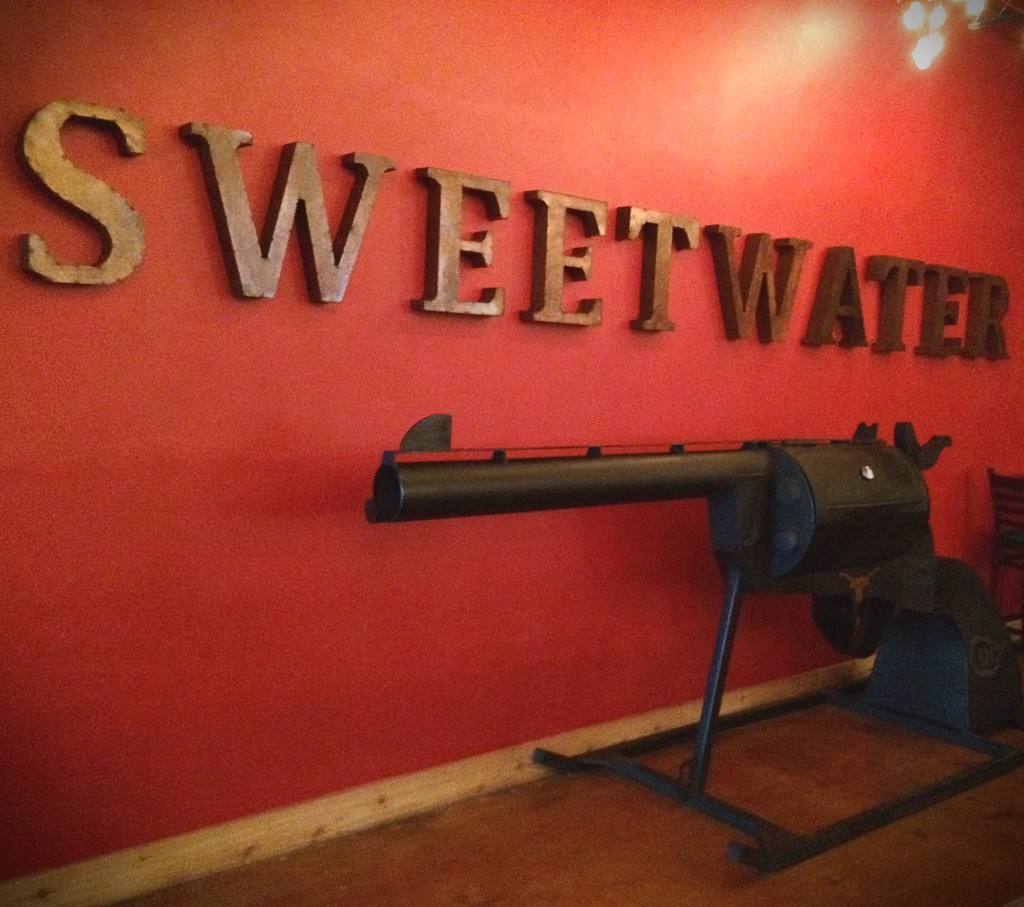 Decor inside the Sweetwater bar