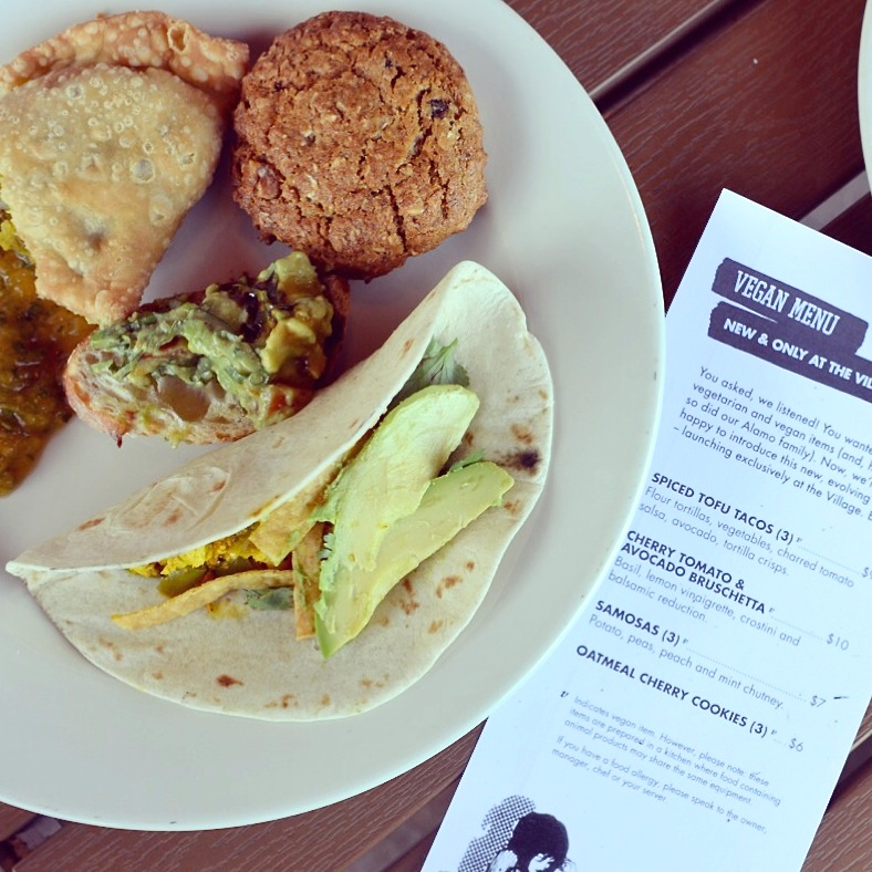 Vegan Menu at Alamo Drafthouse Village