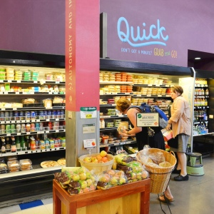 Grab-and-go section at Wheatsville on Guadalupe