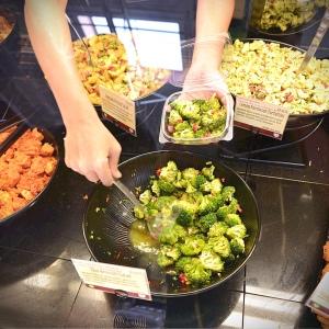 Broccoli salad at the Wheatsville deli counter