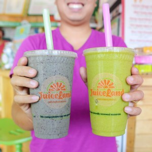 Originator and Peachy Green Smoothies from Juiceland