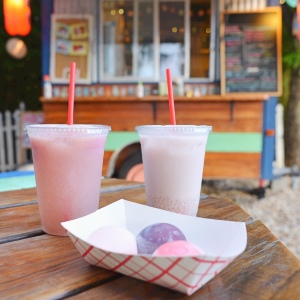 Mochi ice cream and drinks from Frozen Rickshaw