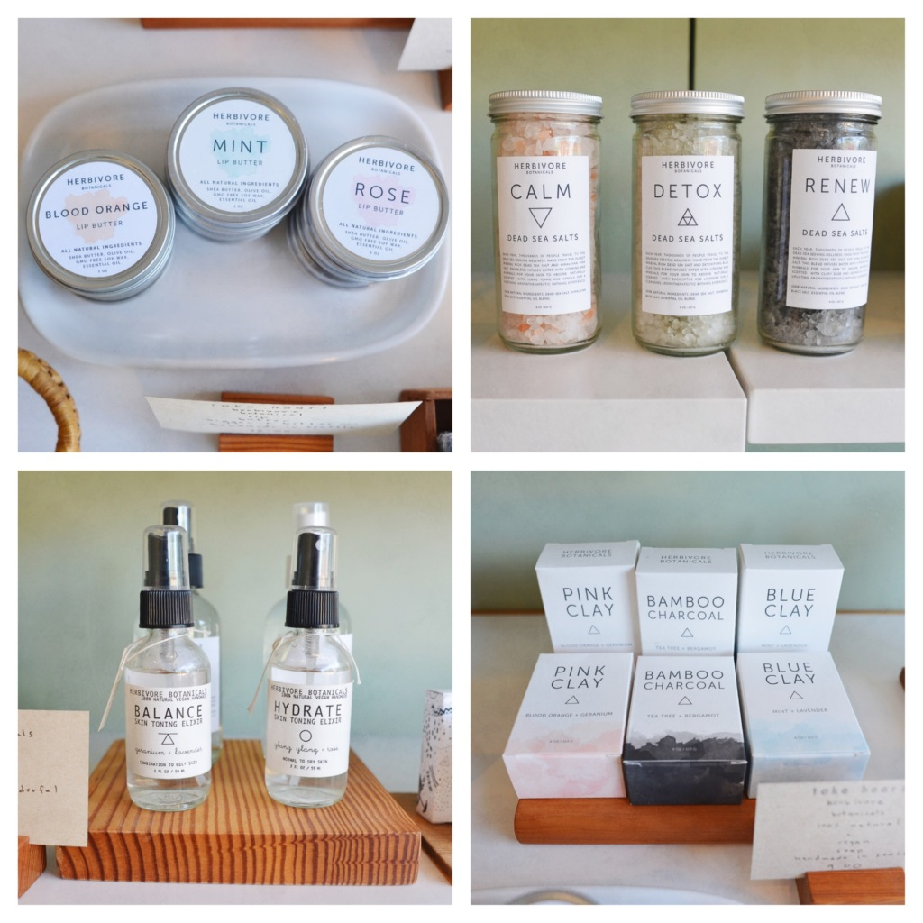 Beauty products from Herbivore Botanicals
