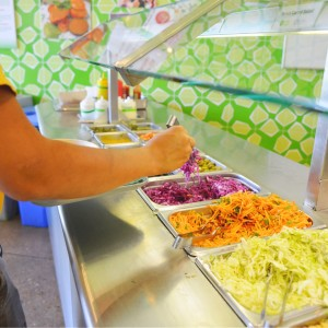 Salad Bar at Maoz