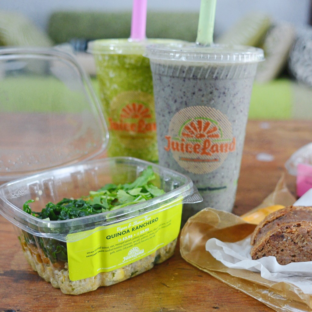 Quinoa Ranchero and Smoothies from Juiceland